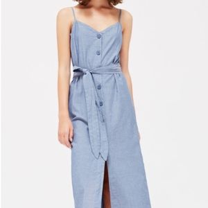 LA CAUSA Bluebell chambray dress NWT